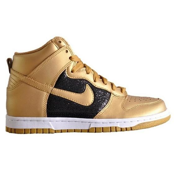 Nike Shoes | Dunk Metallic Gold High